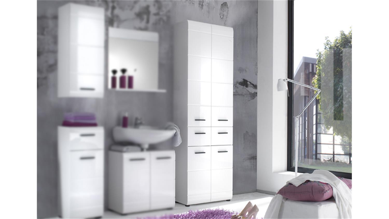 badschrank hochschrank 105 skin front wei hochglanz 4 t rig. Black Bedroom Furniture Sets. Home Design Ideas