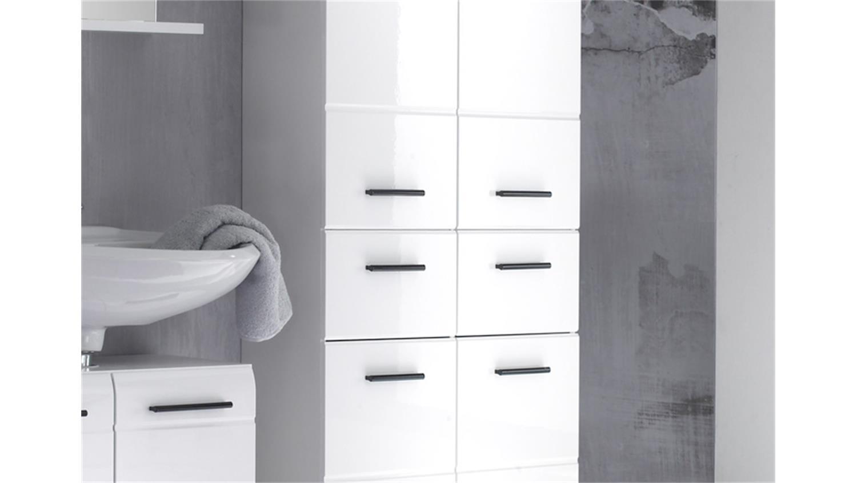 Badschränke Weiß Hochglanz badschrank hochschrank 105 skin front weiß hochglanz 4 türig