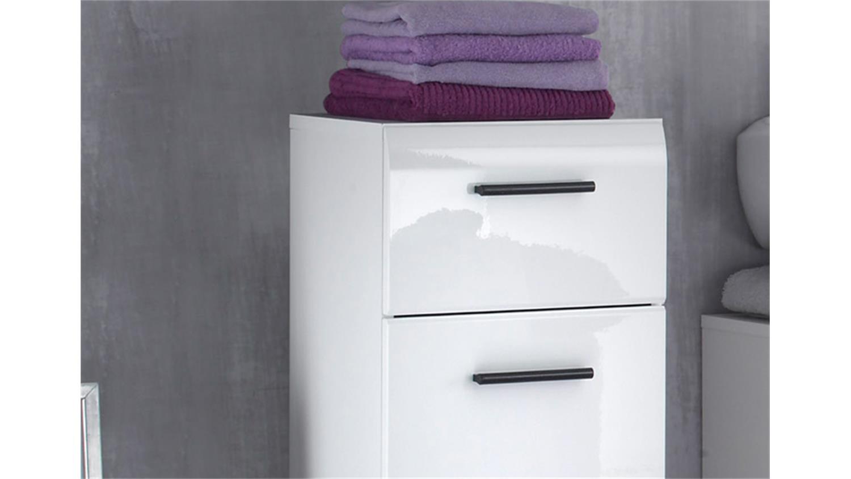 Badezimmer kommode weiß  Kommode SKIN Front weiß hochglanz 1-türig 1 Schubkasten