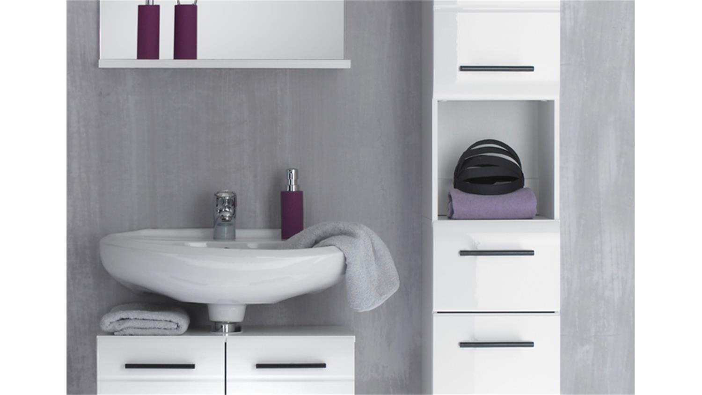 badezimmer skin badm bel set 2 front wei hochglanz 5 teilig. Black Bedroom Furniture Sets. Home Design Ideas