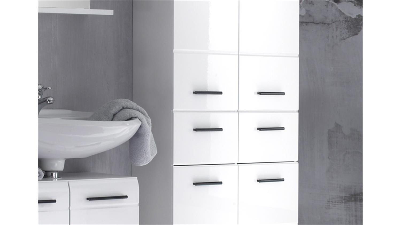 skin badmöbel set 3 front weiß hochglanz 5-teilig, Badezimmer ideen