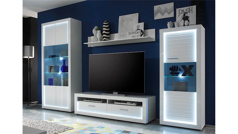 moderne hochglanz-wohnwand bestellen || pharao24™. wohnzimmer ...