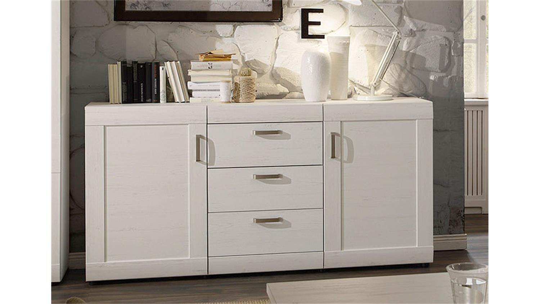 sideboard landlust in pinie struktur wei und dunkel. Black Bedroom Furniture Sets. Home Design Ideas