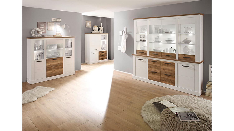 sideboard toronto anderson pinie hell satin nussbaum. Black Bedroom Furniture Sets. Home Design Ideas