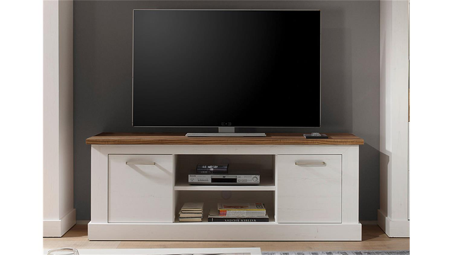 tv board toronto anderson pinie hell satin nussbaum. Black Bedroom Furniture Sets. Home Design Ideas