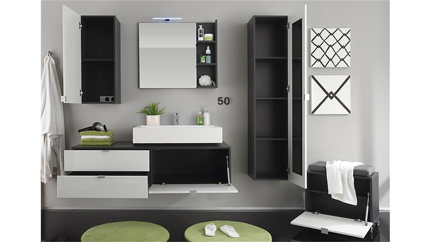 badezimmer set mit 2 waschbecken bestseller shop f r. Black Bedroom Furniture Sets. Home Design Ideas
