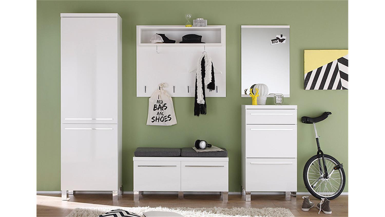 garderobenschrank derby garderobe wei hochglanz tiefzieh. Black Bedroom Furniture Sets. Home Design Ideas