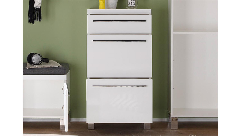 kommode derby garderobe in wei hochglanz tiefzieh. Black Bedroom Furniture Sets. Home Design Ideas