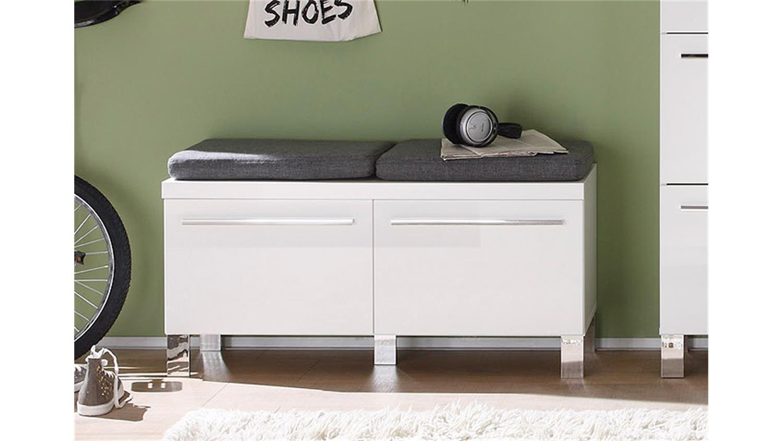 Garderoben Sitzbank derby garderobe in weiß hochglanz tiefzieh