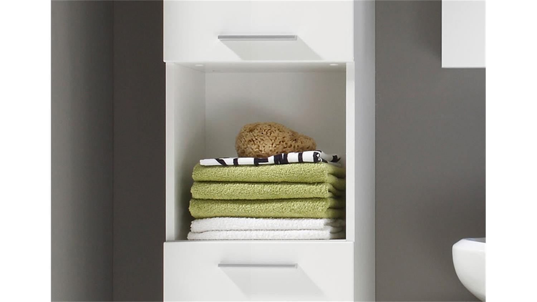 hochschrank amanda badezimmer wei hochglanz tiefzieh. Black Bedroom Furniture Sets. Home Design Ideas
