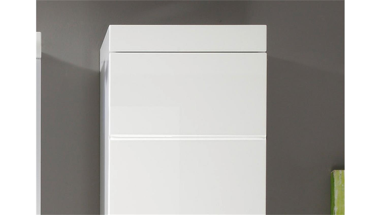 h ngeschrank amanda badezimmer wei hochglanz tiefzieh. Black Bedroom Furniture Sets. Home Design Ideas