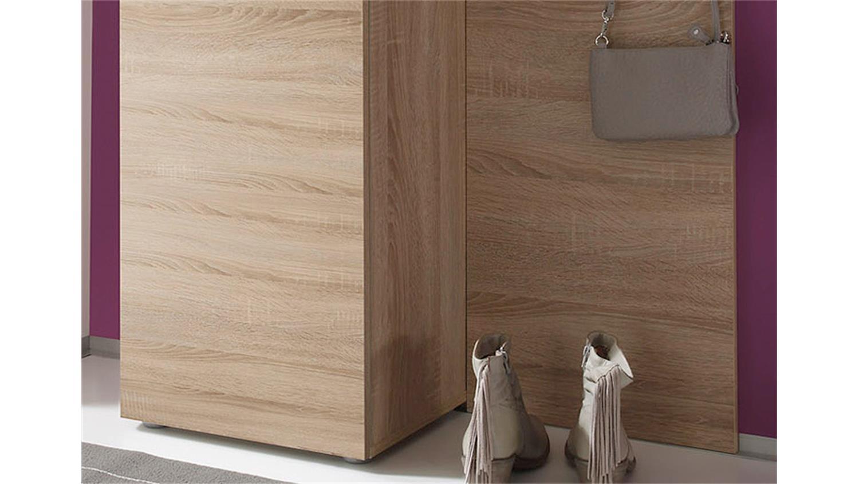 modernes garderobenset in der farbe eiche s gerau hell eiche hell farbe. Black Bedroom Furniture Sets. Home Design Ideas