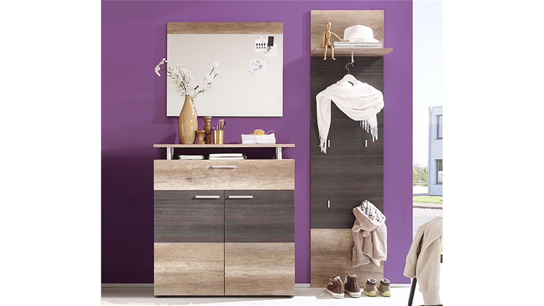 garderoben set polo eiche monument oak touchwood 3 teilig. Black Bedroom Furniture Sets. Home Design Ideas