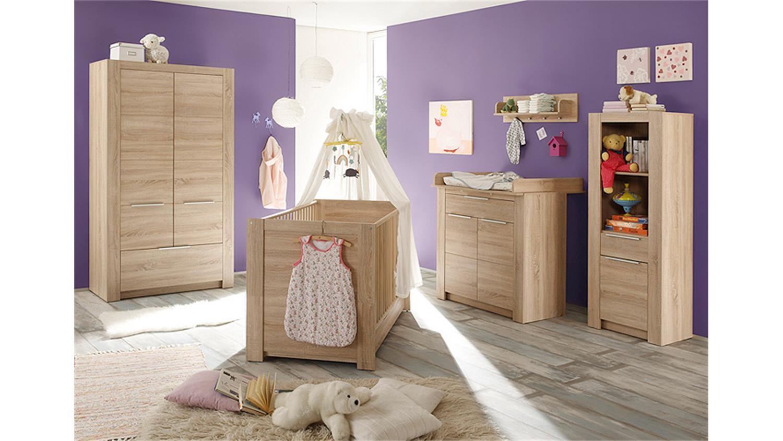 babybett carlotta in eiche s gerau hell 70x140 cm. Black Bedroom Furniture Sets. Home Design Ideas