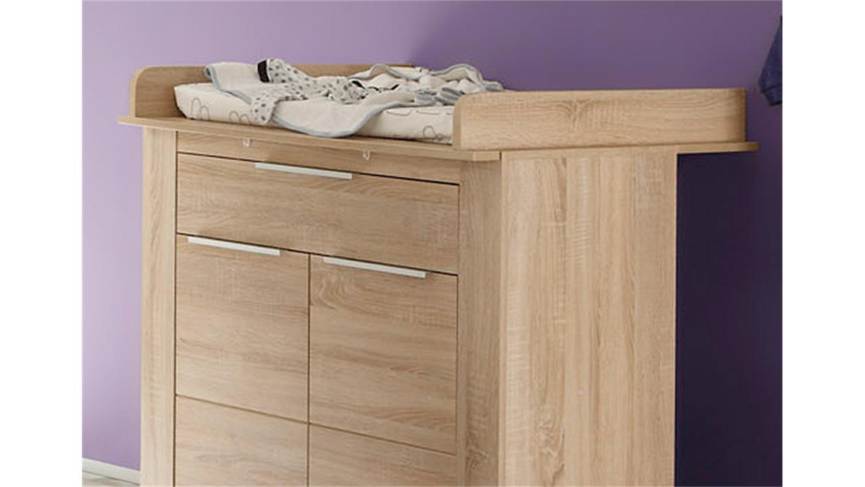 wickelkommode carlotta in eiche s gerau hell 85x75 cm. Black Bedroom Furniture Sets. Home Design Ideas