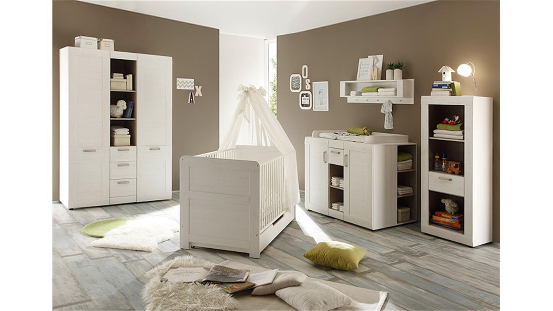 babyzimmer set landi in pinie struktur wei 3 teilig. Black Bedroom Furniture Sets. Home Design Ideas
