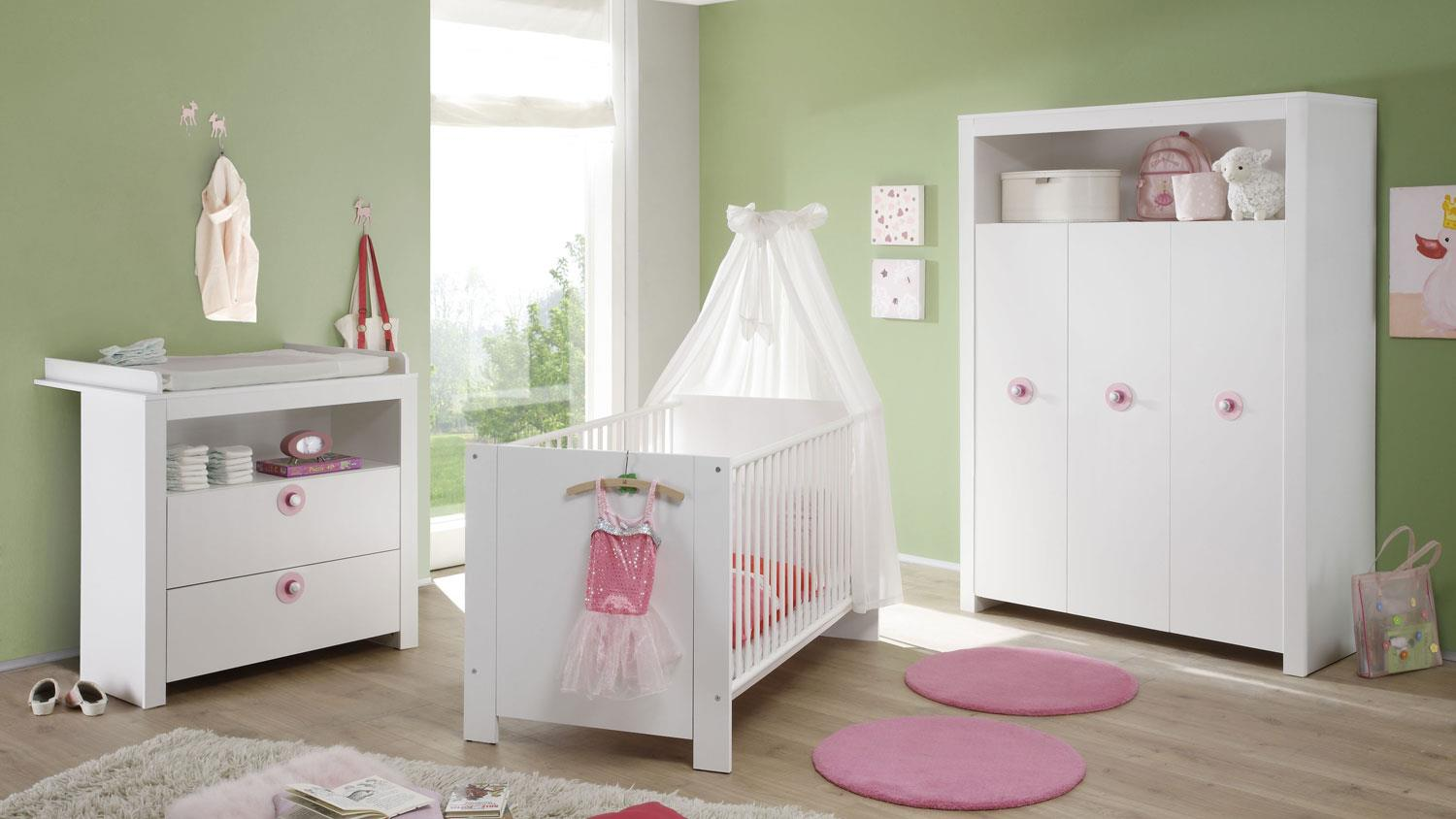babybett olivia in wei mit schlupfsprossen 70x140 cm. Black Bedroom Furniture Sets. Home Design Ideas