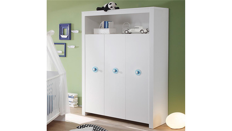 kleiderschrank babyzimmer olivia schrank in wei 3 t rig 130 cm. Black Bedroom Furniture Sets. Home Design Ideas