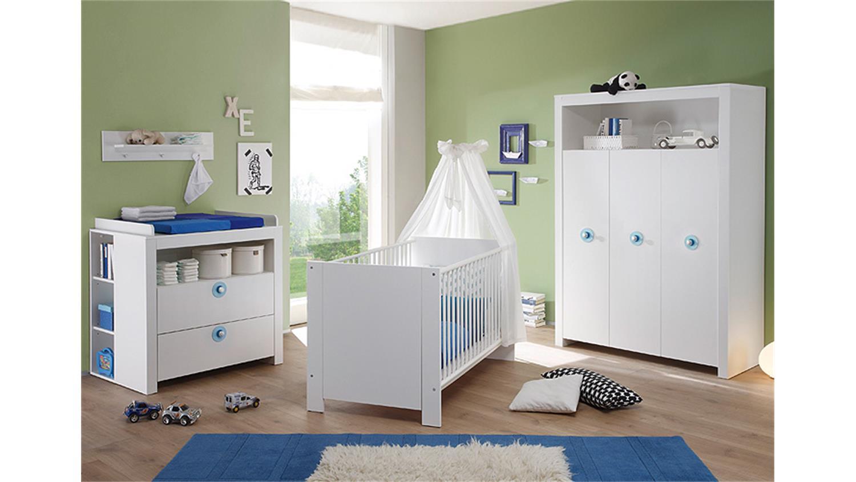 Babyzimmer Olivia Schrank in weiß 3 türig 130 cm
