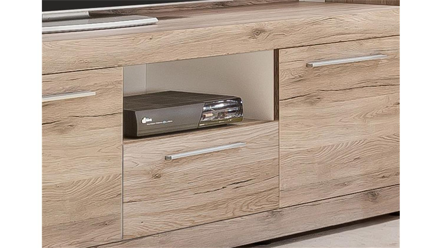 tv unterteil passat unterschrank lowboard in eiche sand. Black Bedroom Furniture Sets. Home Design Ideas