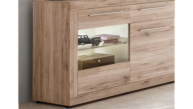 sideboard passat schrank vitrine eiche sand mit glast ren. Black Bedroom Furniture Sets. Home Design Ideas
