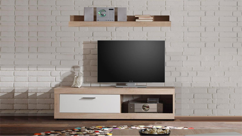Tv Tisch Sonoma Eiche Cheap Lowboard Mano Tv Tisch