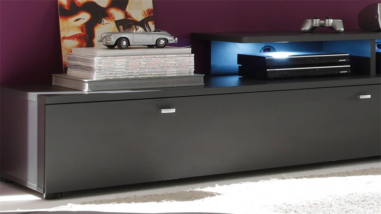 tv lowboard kombination tetis graphit 280cm. Black Bedroom Furniture Sets. Home Design Ideas