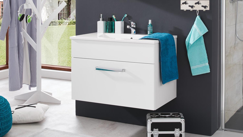 waschbeckenunterschrank adamo wei hochglanz 81 waschbecken. Black Bedroom Furniture Sets. Home Design Ideas