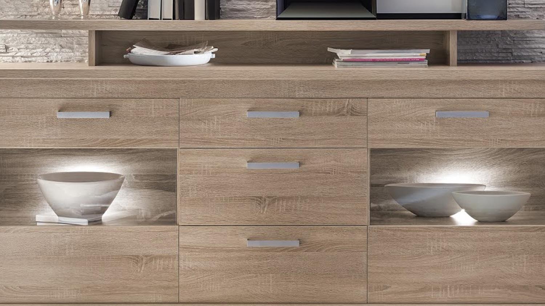 sideboard montreal in eiche s gerau hell kommode. Black Bedroom Furniture Sets. Home Design Ideas