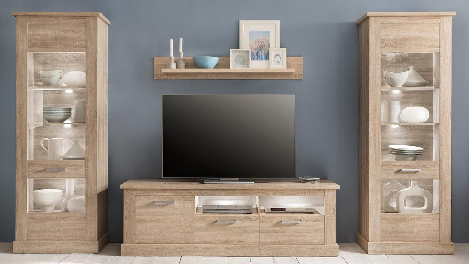 tv board 1 montreal lowboard in eiche s gerau hell. Black Bedroom Furniture Sets. Home Design Ideas