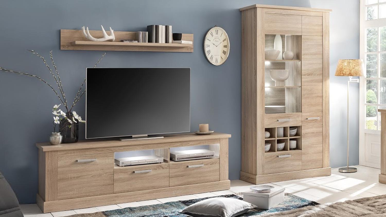 Kompakt wohnwand cool wertige wohnwand nur cm hoch with kompakt wohnwand beautiful wohnwand - Wohnwand abgerundet ...
