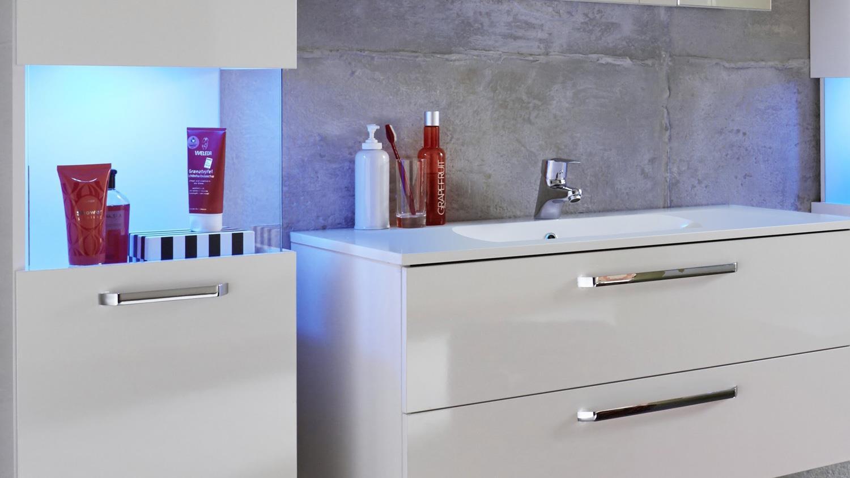 sky in weiß hochglanz 4-teilig bad set badmöbel, Badezimmer ideen