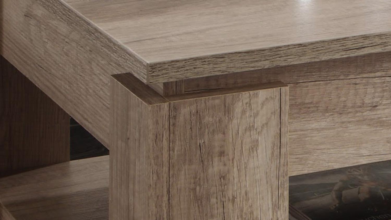Couchtisch UNIVERSAL Eiche Monument Oak mit Ablage Tisch