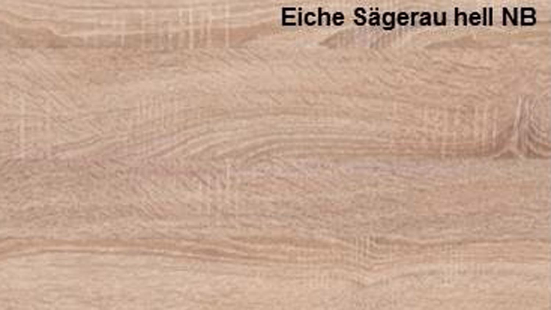 UNIVERSAL Eiche Sägerau hell Tisch mit Ablage[R # Möbel Eiche Hell