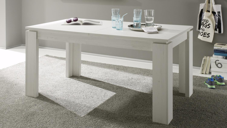 esstisch universal in pinie struktur wei ausziehtisch. Black Bedroom Furniture Sets. Home Design Ideas
