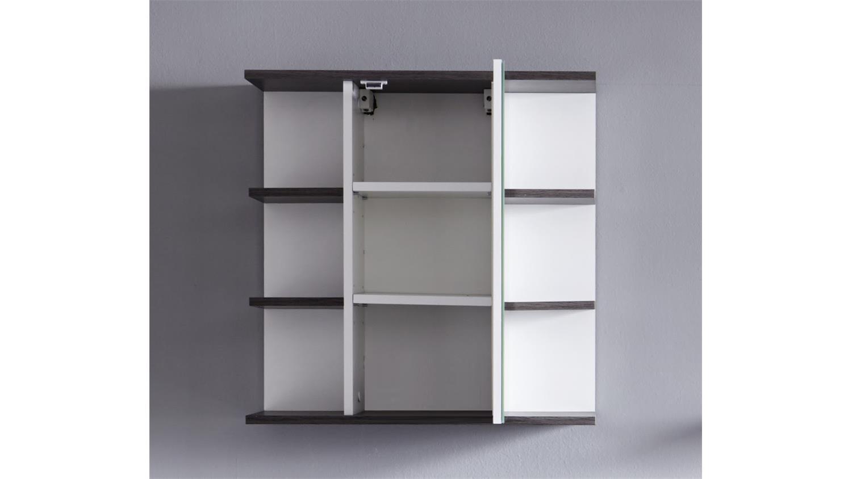 Bad spiegelschrank san diego wei rauchsilber bad spiegel for Design bad spiegelschrank