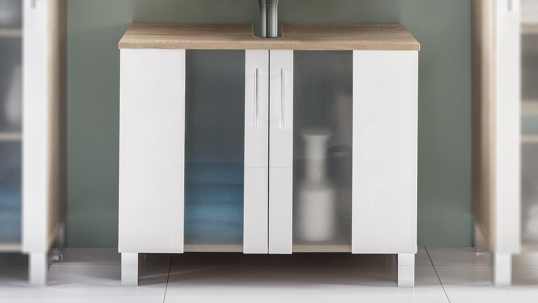 waschbeckenunterschrank porto in eiche s gerau wei melamin. Black Bedroom Furniture Sets. Home Design Ideas