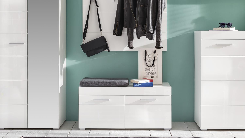 garderobe set 2 amanda in wei hochglanz tiefzieh. Black Bedroom Furniture Sets. Home Design Ideas