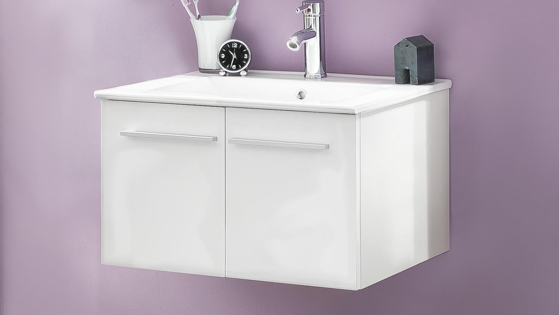 waschbeckenunterschrank ttb 03 wei glanz mit waschbecken. Black Bedroom Furniture Sets. Home Design Ideas
