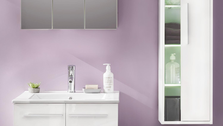 Badezimmer Set Ttb 03 Mit Waschbecken Wei Glanz 3 Teilig