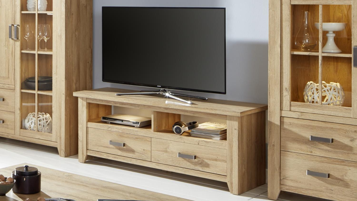 tv board 1 canyon lowboard unterschrank fernsehrschrank in alteiche. Black Bedroom Furniture Sets. Home Design Ideas
