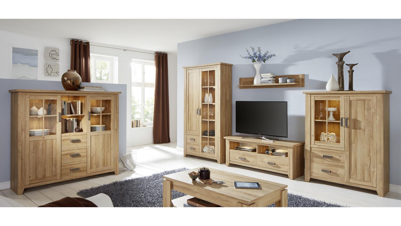 wohnwand 2 canyon anbauwand wohnkombi wohnzimmer in alteiche 4 teilig. Black Bedroom Furniture Sets. Home Design Ideas