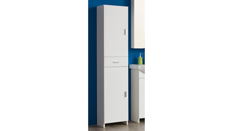hochschrank vex 2 t rig bad schrank front in wei hochglanz lackiert. Black Bedroom Furniture Sets. Home Design Ideas