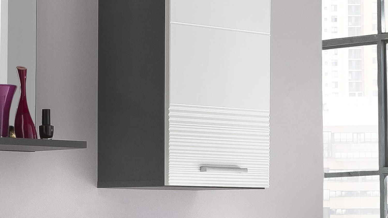 h ngeschrank smart 1 t rig bad grau matt und wei hochglanz tiefzieh. Black Bedroom Furniture Sets. Home Design Ideas