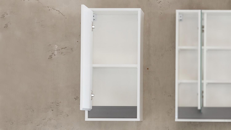 bad h ngeschrank sol badschrank in wei melamin hochglanz. Black Bedroom Furniture Sets. Home Design Ideas