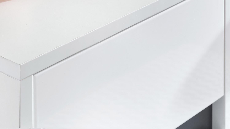 Hochschrank SOL Badschrank in weiß Melamin Hochglanz hängend