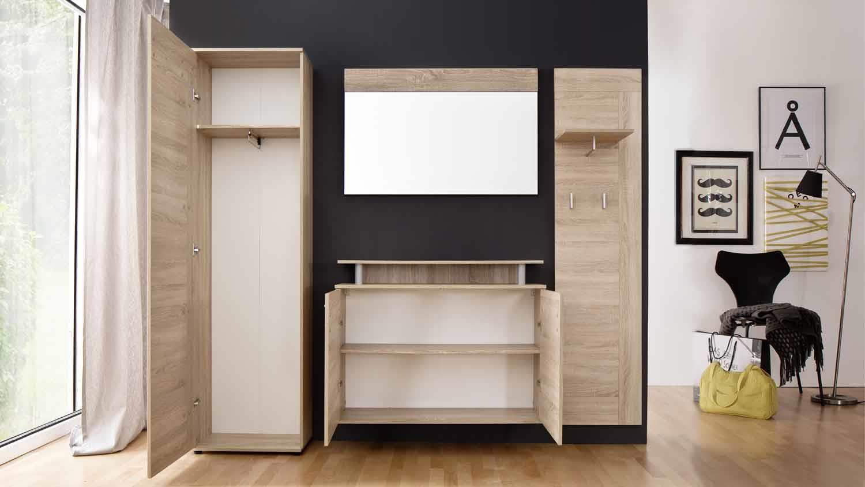 garderobe jack set 4 teilig flurm bel in eiche s gerau hell. Black Bedroom Furniture Sets. Home Design Ideas