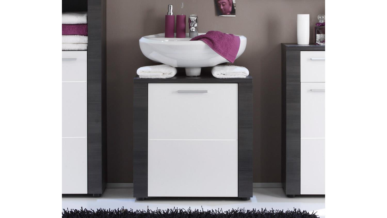 Waschbeckenunterschrank xpress bad schrank in esche grau und wei for Bad waschbeckenunterschrank