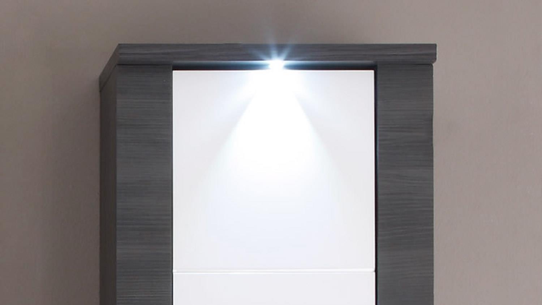 XPRESS Bad in Esche grau und weiß inkl. LED-Beleuchtung