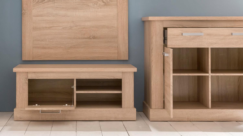 garderobe sydney flurm bel dielenm bel set in eiche. Black Bedroom Furniture Sets. Home Design Ideas